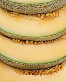 Sliced Galia melon