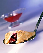 Blackberry turnover with buttered breadcrumbs