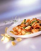 Orecchiette zucchini e capperi (Pasta with courgettes & capers)