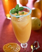 Virginian; cocktail with rum, Curacao and orange juice