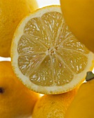 Lemons with slice of lemon