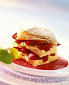 Millefeuilles with berries and white chocolate mousse
