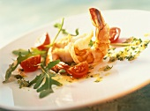 Gamberi all'aglio (fried shrimps with garlic, Italy)
