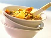 Sour shrimp soup with limes