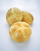 Three bread rolls