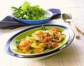 Spaghetti al prosciutto (Spaghetti with ham & fennel)