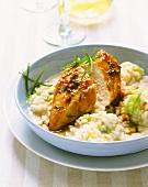 Chili chicken with risotto