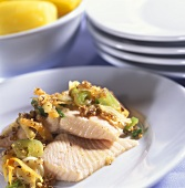 Jewish Nussfisch with potatoes