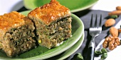 Baklava with mixed nuts