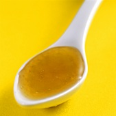 Honey on spoon