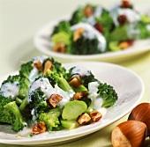 Broccoli and hazelnut salad with yoghurt sauce