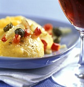 Polenta with vegetable vinaigrette