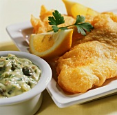 Haddock in beer batter with remoulade sauce