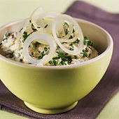 Liptauer: quark with onions, paprika and chives