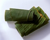 Rolled banana leaves