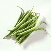 Green beans (French beans) with drops of water