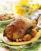 Roast leg of lamb for Easter