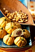 Stuffed mini-pumpkins with olives for Halloween party