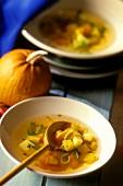 Pumpkin soup for Halloween