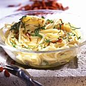 Pasta aglio, olio e peperoncino (spicy pasta dish)