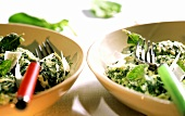 Strangolapreti (ricotta dumplings with spinach, sage, Parmesan)