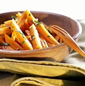 Carote al marsala (carrots in Marsala sauce with parsley)