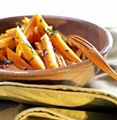 Carote al marsala (carrots in Marsala sauce with parsley)