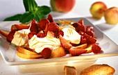 Frutta con crema di mascarpone (fruit with mascarpone cream)