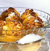 Pesche ripiene (peaches stuffed with amaretti, Italy)