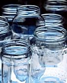 Various empty preserving jars