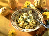 Gnocchi alla zucca (Pumpkin gnocchi with herbs and cheese)
