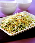 Carrot and cabbage salad with sesame
