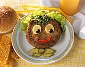 Hamburger for children (hamburger face)