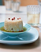 Goat's cheese with red pepper in olive oil