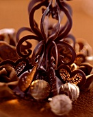 Chocolate decoration with chocolates for cakes & gateaux