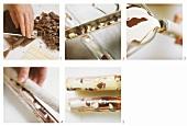 Making marbled chocolate sticks