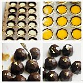 Making diamond-shaped chocolates
