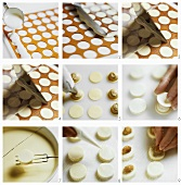 Making filled white chocolates