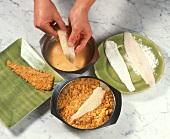 Breading fish fillets