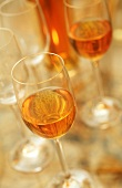 Dessert wine in glasses