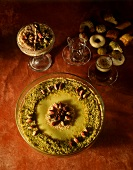 Tunisian pistachio mousse with nuts
