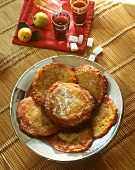 Tunisian sweet fritters; sugar lumps; lemons