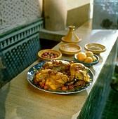 Moroccan saffron chicken with olives