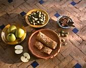 Moroccan apple strudel