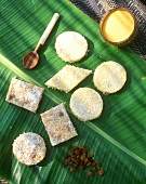 Polenta pudding with coconut and raisins from Mauritius