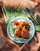 Braised fish medallions with tomato sauce (Seychelles)