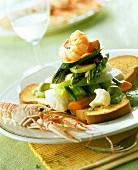 Cappon magro (Geschichtete Fische & Gemüse auf Zwieback)