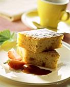 Torta di mandorle con caffè all'Alchermes (almond rice cake)
