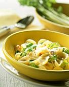 Orecchiette alla barese (orecchiette with turnip greens, Italy)