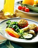 Piatto freddo di ortaggi (cold vegetable appetisers, Italy)